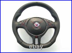 01-06 BMW 3 E46 5 E39 X5 new NAPPA ERGONOMIC INLAYS SPORT SW FLAT BOTTOM M-stitc
