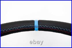 01-06 BMW 3 E46 5 E39 X5 new NAPPA LEATHER SPORT SW M-stitch / blue stripe