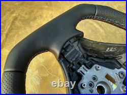 03-06 BMW E60 E61 NEW NAPPA LEATHER ERGONOMIC INLAYS FLAT BOTTOM THICK&HEAVY red