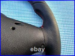 03-07 BMW X3 E83 X5 E53 new NAPPA ERGONOMIC INLAYS M SPORT SW FLAT BOTTOM red