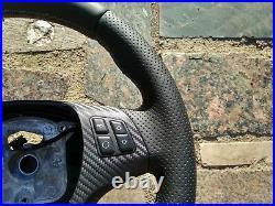 05-13 BMW M TECH 1/3/X E82/E87/E90/92/84 NEW NAPPA LEATHER STEERING WHEEL carbon