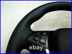 07-14 BMW OEM X5 E70 X6 E71 SPORT NEW NAPPA LEATHER STEERING WHEEL withSRS thick