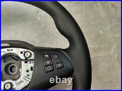 07-14 BMW X5 E70 E70LCi NEW NAPPA LEATHER HEATED STEERING WHEEL THUMB RESTS base