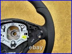 07-14 BMW X5 E70 X6 E71 NEW NAPPA ERGONOMIC INLAYS heated SPORT FLAT BOTTOM blue