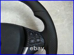 07-14 BMW X5 E70 X6 E71 New NAPPA LEATHER ERGONOMIC INLAYS FLAT BOTTOM complete