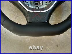 07-14 BMW X5 E70 X6 E71 SPORT NEW NAPPA LEATHER ERGONOMIC INLAYS SW /FLAT bottom