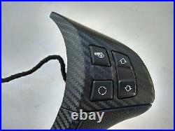 08-14 BMW X6 E71 GLOSSY CARBON STEERING WHEEL CONTROL BUTTONS PANEL COVER shift