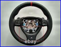 08-15 OEM BMW 5 F07 F10 6 F12 7 F01 M SPORT TECH smooth NAPPA LEATHER TRIM PANEL