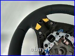 09-16 BMW 5 F07 F10 F11 7 F01 M SPORT NEW NAPPA LEATHER SHIFT/VIBRO/THICK blue