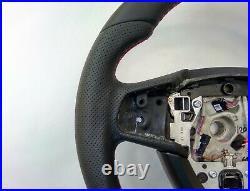 09-16 BMW F07 F10 F01 NAPPA ERGONOMIC INLAYS HEATED SW FLAT BOTTOM non sport M