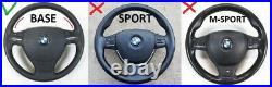 09-16 BMW F07 F10 F01 NEW NAPPA LEATHER ERGONOMIC INLAYS SW FLAT BOTTOM base