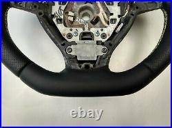 09-16 BMW F07 F10 F01 SPORT NEW NAPPA ERGONOMIC INLAYS FLAT BOTTOM THICK yellow