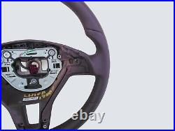 12-16 Mercedes C W204 Slk Cls E New Nappa Leather Steering Wheel Thick Brown