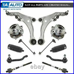 12 Piece Steering & Suspension Kit Control Arms Wheel Bearings Tie Rods New