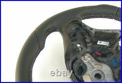 13-19 BMW F22 F30 NEW NAPPA ERGONOMIC INLAYS SPORTS FLAT BOTTOM shift RED STRIPE