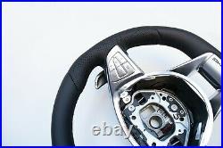 15-19 Mercedes A Cls Gle Gla Gls New Nappa Leather Sw Flat Bottom Amg/sport