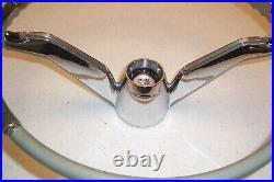 1960 60 CADILLAC COUPE SEDAN DEVILLE ELDORADO STEERING WHEEL WithBAR & CAP ORIG GM
