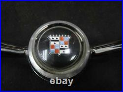 1962 CADILLAC STEERING WHEEL HORN BAR WithBUTTON CHROME 799265