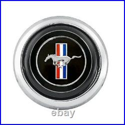1965-1973 MUSTANG Tri-Bar Horn Button for CS500 Steering Wheel Ford Licensed