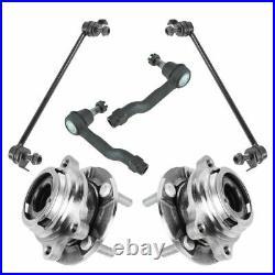 6 Piece Steering & Suspension Kit Wheel Bearings Tie Rods Sway Bar End Links New