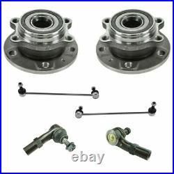 6 Piece Steering & Suspension Kit Wheel Hub & Bearings Tie Rods Sway Bar Links