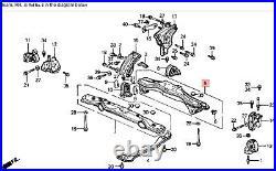 88-91 Prelude 2WS Center Cross Beam Engine K Frame Crossmember Bar Cradle OEM