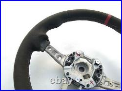 BMW 1 F20 2 F22 3 F30 4 F32 M TECH NEW ALCANTARA HEATED STEERING WHEEL red THICK