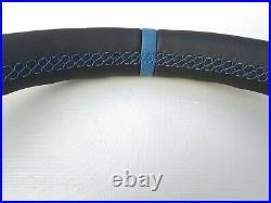 BMW 1 F20 2 F22 3 F30 4 F32 M TECH NEW NAPPA LEATHER SHIFT/HEATED blue THICKER