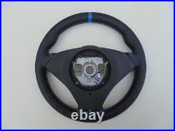 BMW 5 6 E60/E61/E63/64 M-Sport Tech NEW NAPPA LEATHER HEATED BLUE stripe thick