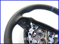 BMW 5 F07 F10 7 F01 M SPORT TECH NEW NAPPA LEATHER HEATED SHIFT/VIBRO/THICK blue