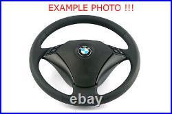 BMW 5 er E60 E61 Lenkrad Schwarzes Leder NEU Schwarz Fäden 6763359