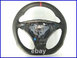BMW E60 E61 03-05 NEW NAPPA ERGONOMIC INLAYS HEATED FLAT BOTTOM THICK&HEAVY red