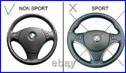 BMW E90 E91 E84 NEW NAPPA LEATHER ERGONOMIC INLAYS FLAT BOTTOM THICK withSRS UNIT