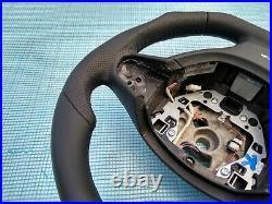 BMW F07 F10 F01 NEW NAPPA LEATHER ERGONOMIC INLAYS SW FLAT BOTTOM non sport