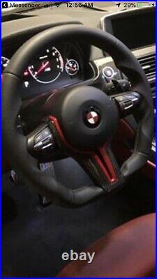 BMW F20 F22 F30 M4 M3 M2 335i435iM TECH NAPPA LEATHER FLAT BOTTOM STEERING WHEEL