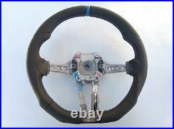 BMW F20 F22 F30 M TECH ERGONOMIC INLAYS NAPPA LEATHER HEATED FLAT BOTTOM blue