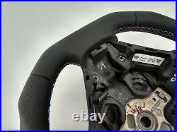 BMW F20 F30 NEW NAPPA ERGONOMIC INLAYS SPORT STEERING WHEEL FLAT bot THICK&HEAVY