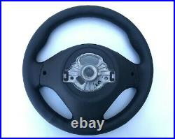 BMW F20 F30 NEW NAPPA LEATHER HEATED SPORT STEERING WHEEL THICK&HEAVY black