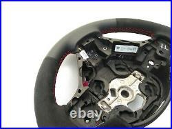 BMW F22 F30 NEW NAPPA/ALCANTARA SPORTS STEERING WHEEL shift pad RED STRIPE thick
