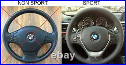 BMW F22 F30 NEW NAPPA ERGONOMIC INLAYS SPORTS HEATED SW FLAT BOTTOM shift RED
