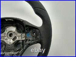 BMW F22 F30 NEW NAPPA ERGONOMIC INLAYS SPORT FLAT BOTTOM THICK&HEAVY blue stripe