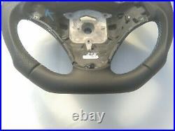 BMW M-TECH SPORT 1/3/X E82/E87/E90/92/84 NAPPA ERGONOMIC INLAYS FLAT BOTTOM blue