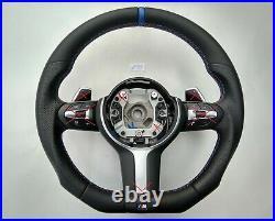 BMW X3 F25 F26 X5 F15 F16 M-TECH M SPORT new NAPPA HEATED SHIFT FLAT BOTTOM blue