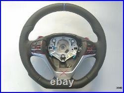 BMW X3 F25 X4 F26 X5 F15 X6 F16 NAPPA ERGONOMIC INLAYS HEATED shift FLAT BOTTOM