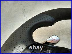BMW X5 E70 X6 E71 ALCANTARA LEATHER ERGONOMIC INLAYS STEERING WHEEL shift FLAT B