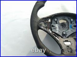 BMW X5 E70 X6 E71 NAPPA LEATHER ERGONOMIC INLAYS HEATED shift FLAT BOTTOM blue