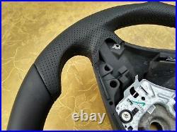 BMW X5 E70 X6 E71 NEW NAPPA ERGONOMIC INLAYS heated SPORT SW flat bottom THICK