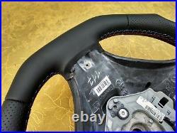 BMW X5 E70 X6 E71 NEW NAPPA LEATHER ERGONOMIC INLAYS SW paddles FLAT BOTTOM red