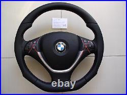 BMW X5 E70 X6 E71 NEW NAPPA LEATHER ERGONOMIC INLAYS flat bottom / SALE