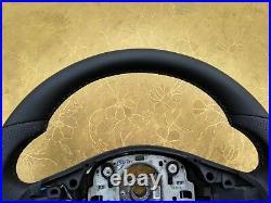 BMW X5 E70 X6 E71 NEW NAPPA LEATHER ERGONOMIC INLAYS heated SW SPORT FLAT bottom